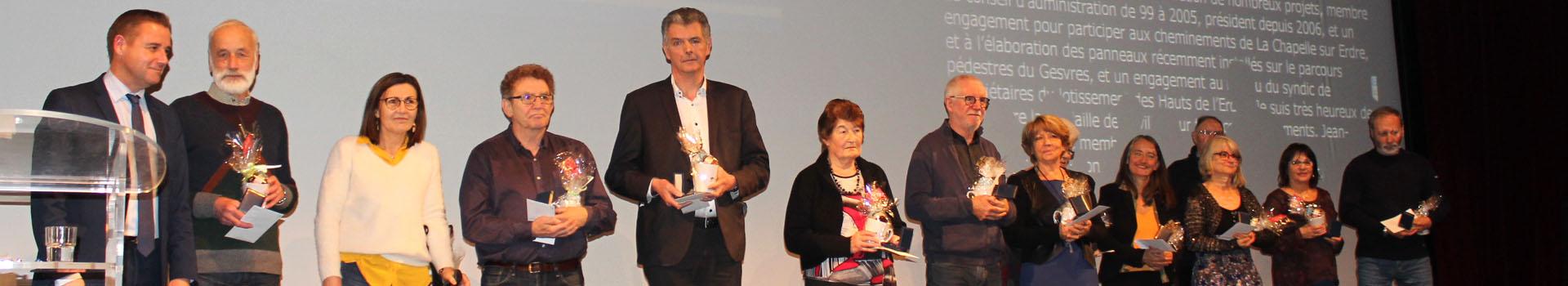 Bénévoles médaillés lors des v½ux 2019
