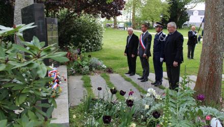 Cérémonie de commémoration de la Fête de la Victoire de 1945
