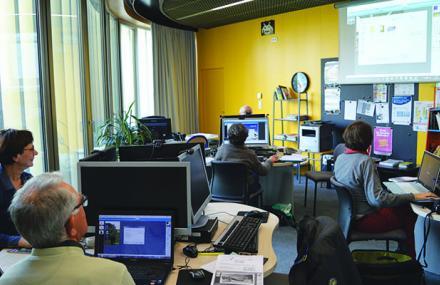 Atelier à l'espace multimédia