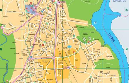 Extrait du plan de la ville