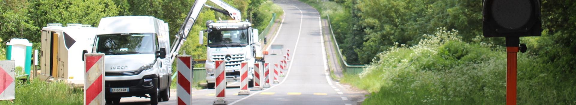 Pont de la Verrière: travaux de réparation du réseau d'eau potable
